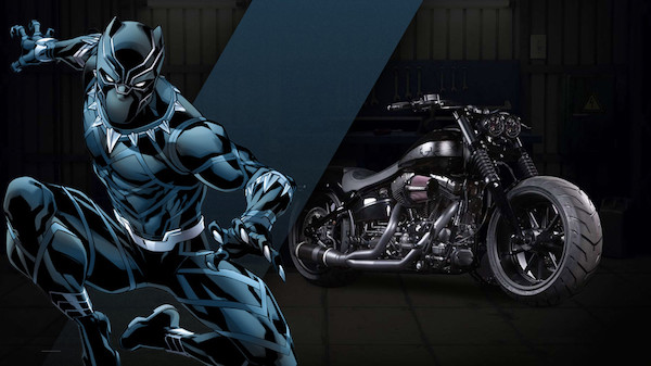 27 custom Marvel motorcycles harley-custom-black-panther