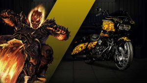 harley custom ghost rider 300x169 27 custom Marvel motorcycles