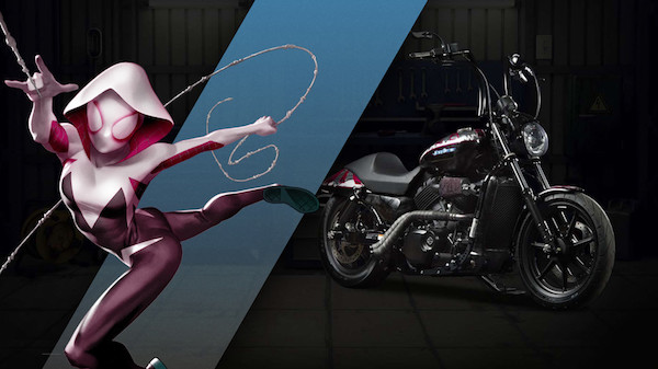 27 custom Marvel motorcycles harley-custom-spider-gwen