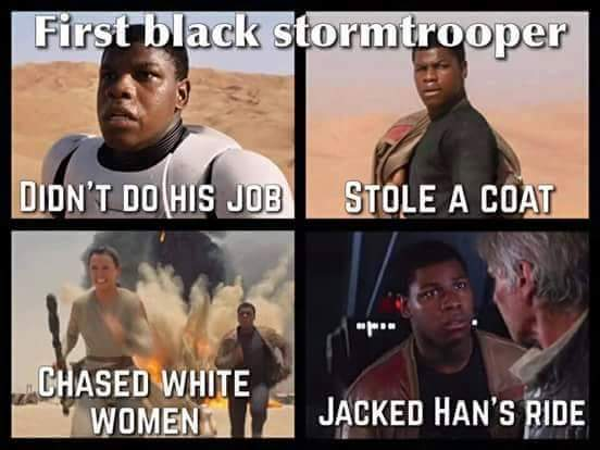 First Black Stormtrooper