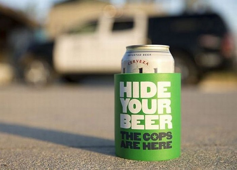 hide your beer the cops are here hide your beer, the cops are here
