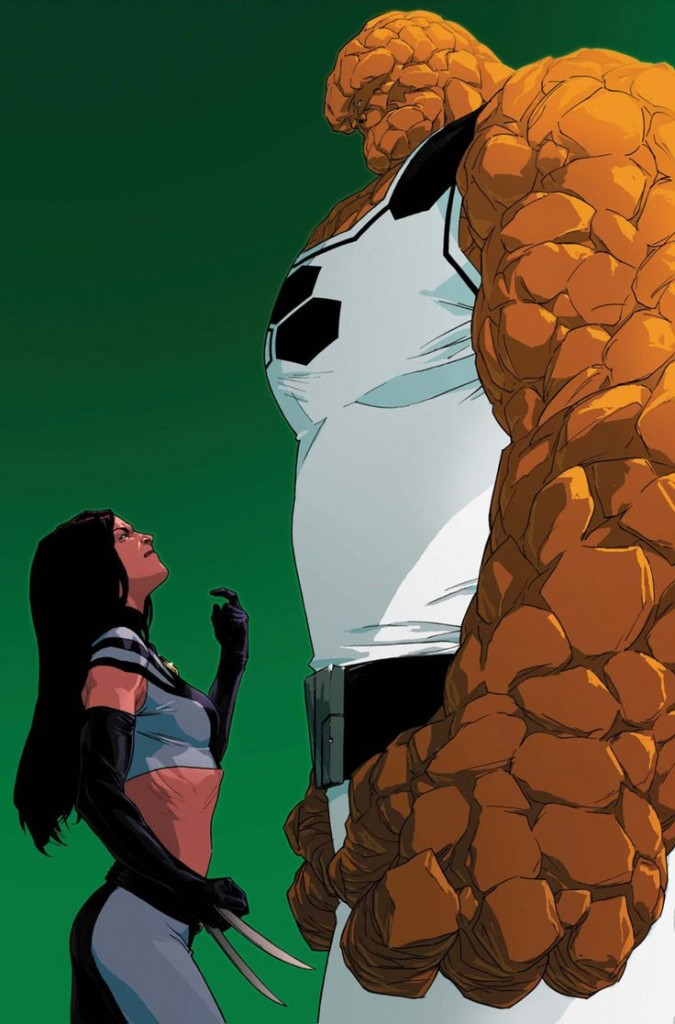 x-23 wants to fight the THING