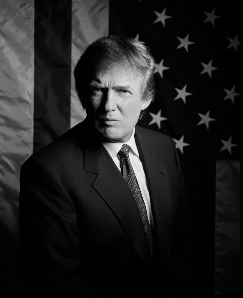 80's Trump and the flag of AMERICA