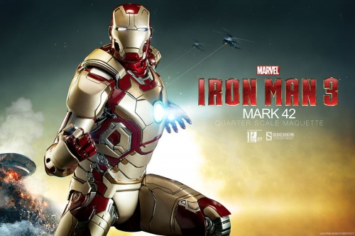 300353 iron man mark 42 001 500x333 Marvel Iron Man Mark 42 Quarter Scale Maquette by Sideshow Collectibles