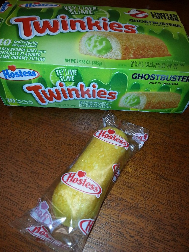 ghostbusters themed slime filled twinkie Ghost Busters Twinkies