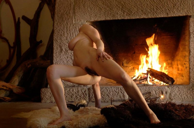 Sexy Roommates Bailey And Riley Fucking By The Fireplace