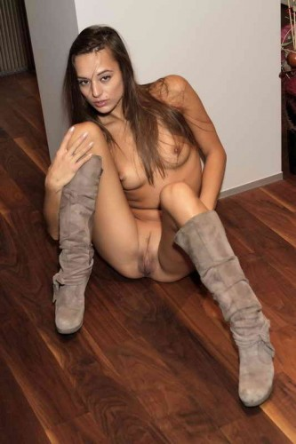 naked in high knee boots