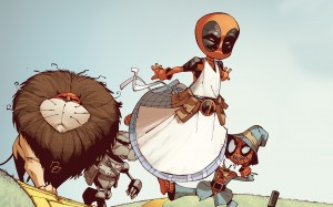 Deadpool in the Wizard of Oz