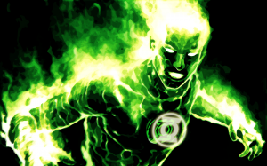 Green Lantern is on fire