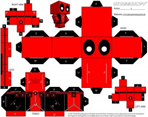 Deadpool Cubeman