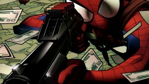 Spider-man with a gun