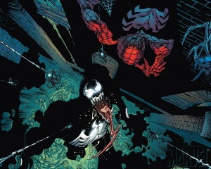 spider-man vs glowing venom