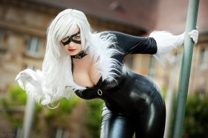 Black Cat Cosplayer